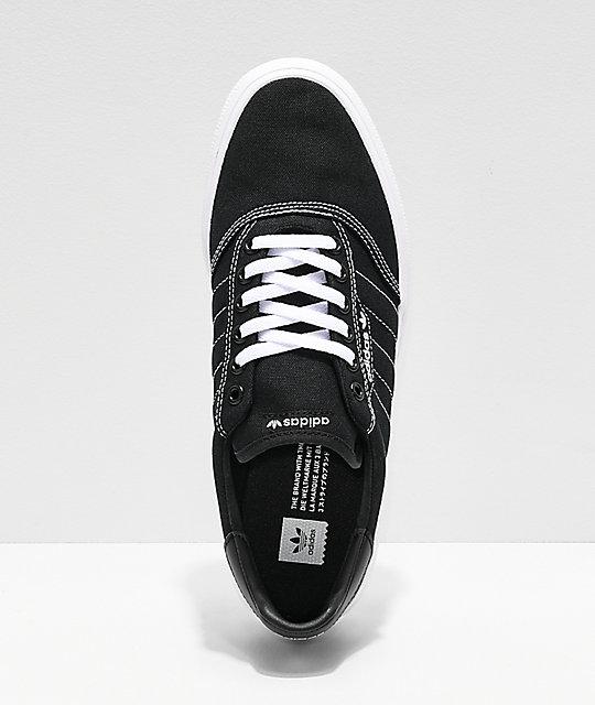 competitive price 2f1fb 7fec4 ... adidas 3MC Black  White Contrast Canvas Shoes ...