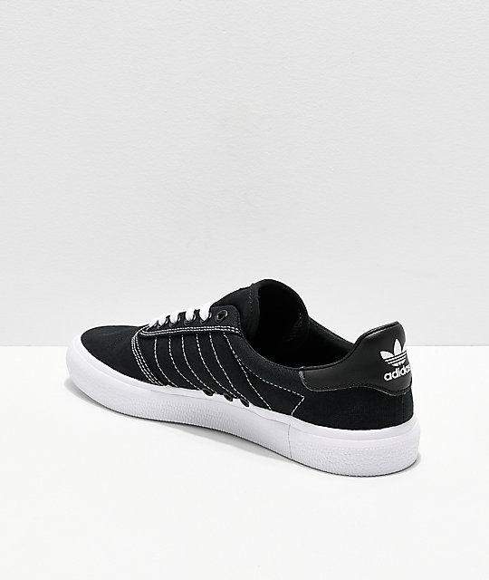 competitive price 315c8 01611 ... adidas 3MC Black  White Contrast Canvas Shoes ...