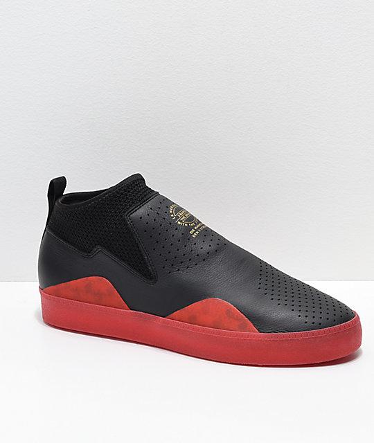sale retailer 5c8ac 2d301 adidas 3ST.002 Nakel zapatos negros y rojos ...