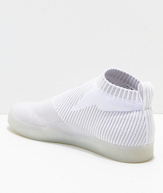 watch ed583 7003f ... adidas 3ST.002 Primeknit White  Grey Shoes ...