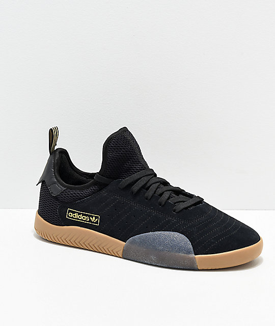 pretty nice e6cf4 a4cdc adidas 3ST.003 Black, Gold  Gum Shoes  Zumiez