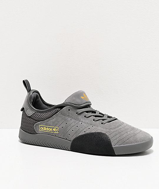 adidas 3ST.003 zapatos grises y dorados Artículo # 318194