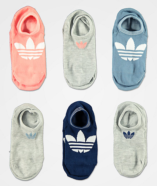 adidas 6 Pack Superlite Rose No Show Socks