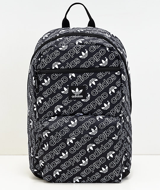 adidas AOP National Monogram Black Backpack | Zumiez
