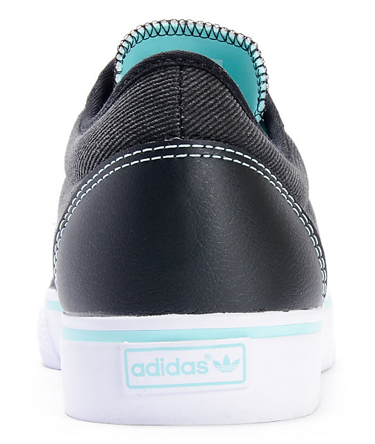 adidas Adi Ease Black & White Canvas Shoes