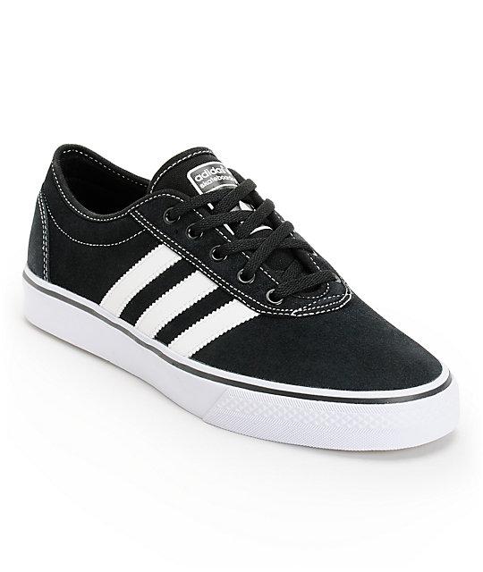 online store b06d7 92a01 adidas Adi Ease Black   White Suede Shoes   Zumiez
