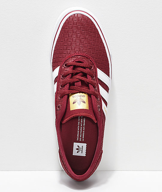 super popular 9ec55 0f98b ... adidas Adi-Ease Daewon Burgundy, White   Gold Skate Shoes ...