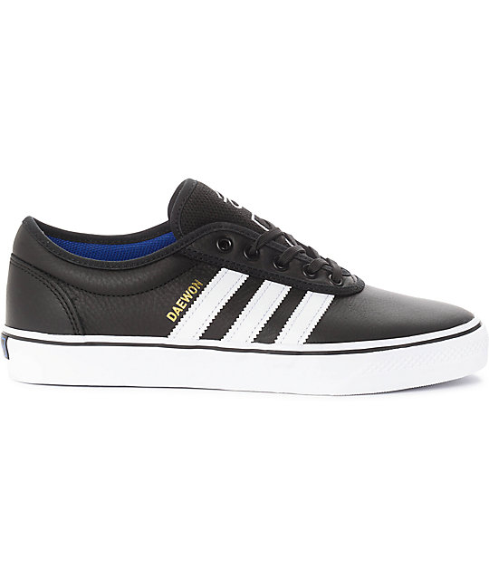 adidas AdiEase Daewon Black & White Leather Shoes