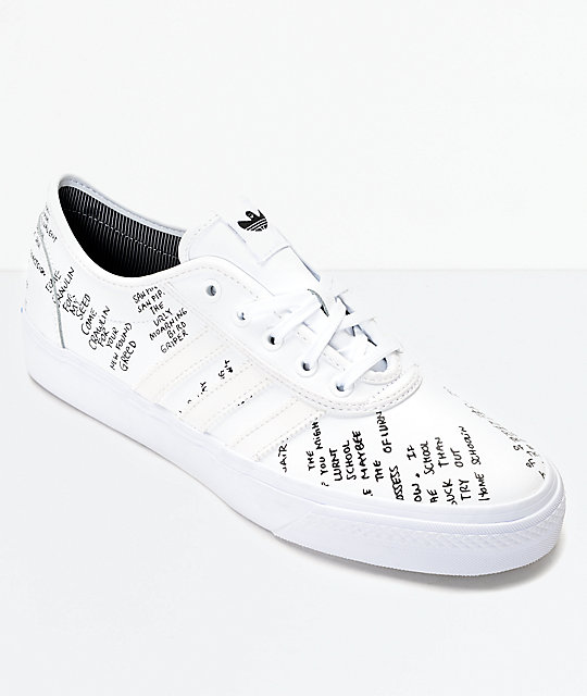 1e02cb8819f adidas AdiEase Gonz White Shoes