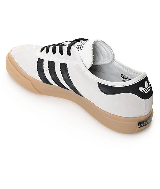 low priced 019f3 b4f0e ... adidas AdiEase Premiere White, Black,  Gum Shoes ...