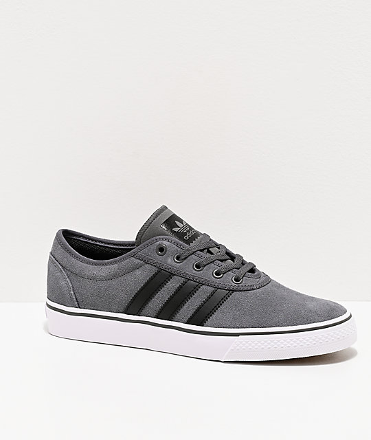 adidas AdiEase Suede Grey & White Shoes