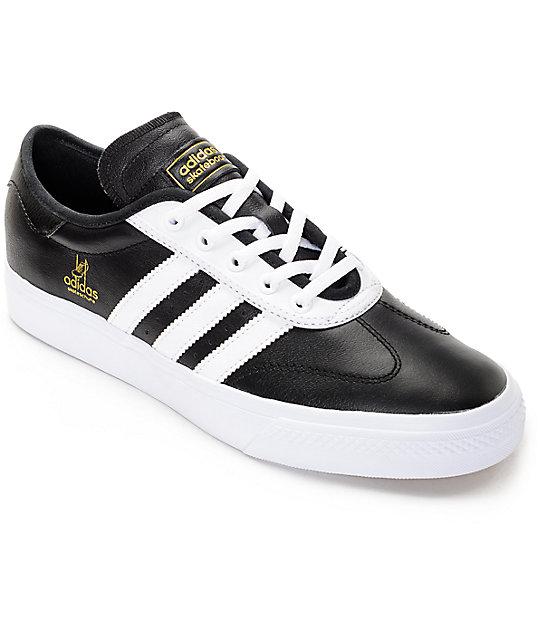 adidas AdiEase Universal Black   White Leather Shoes   Zumiez cb0f8f3bd1