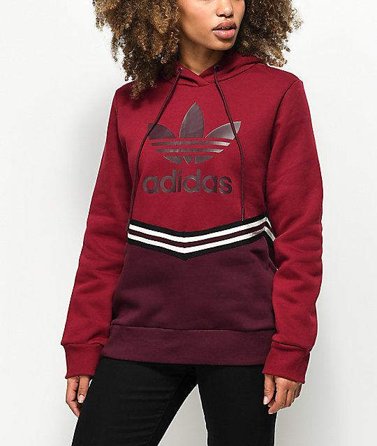 sweater, adidas, burgundy, maroonburgundy, burgundy sweater