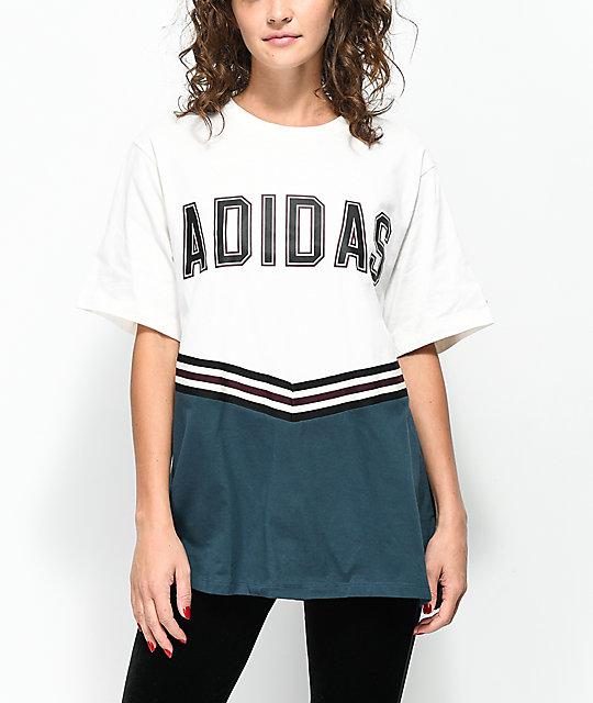 90b9de3dbdd adidas Adibreak White & Navy Collegiate T-Shirt | Zumiez