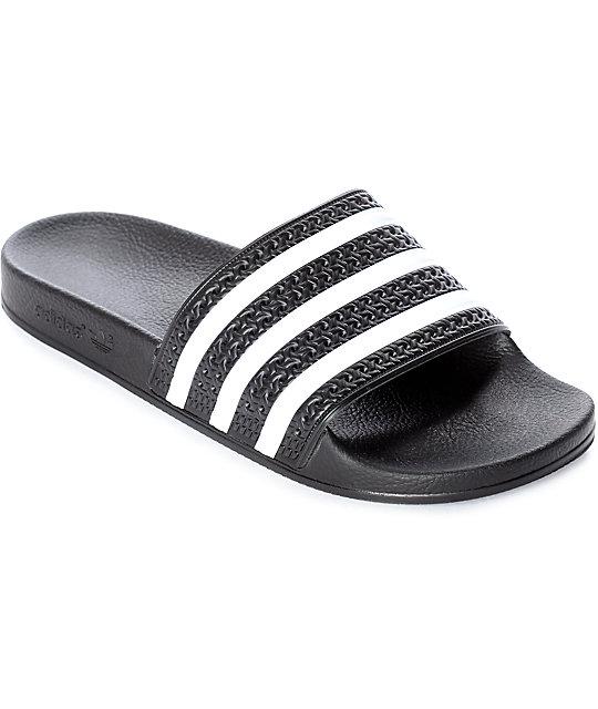 5aa871689a9187 ... uk adidas adilette black white slides 89d4e fd0aa