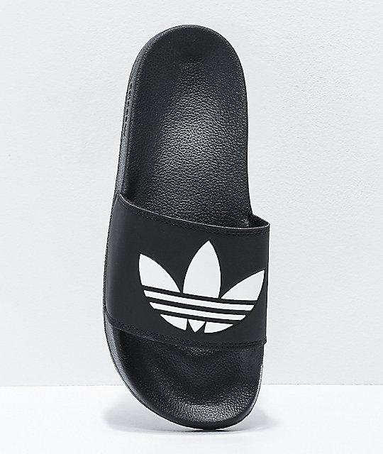 adidas Adilette Lite sandalias negras y blancas