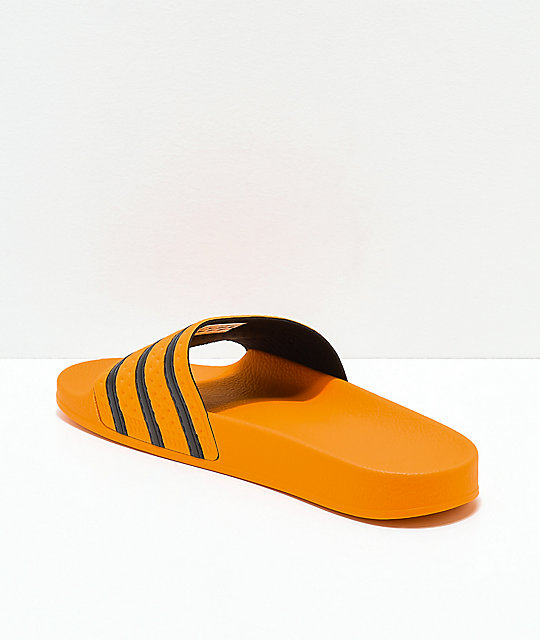 adidas Adilette Real Gold & Black Slide Sandals