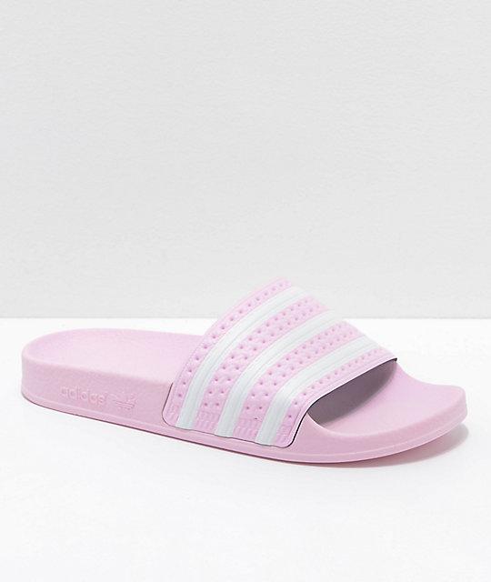 adidas Adilette sandalias rosas para mujeres