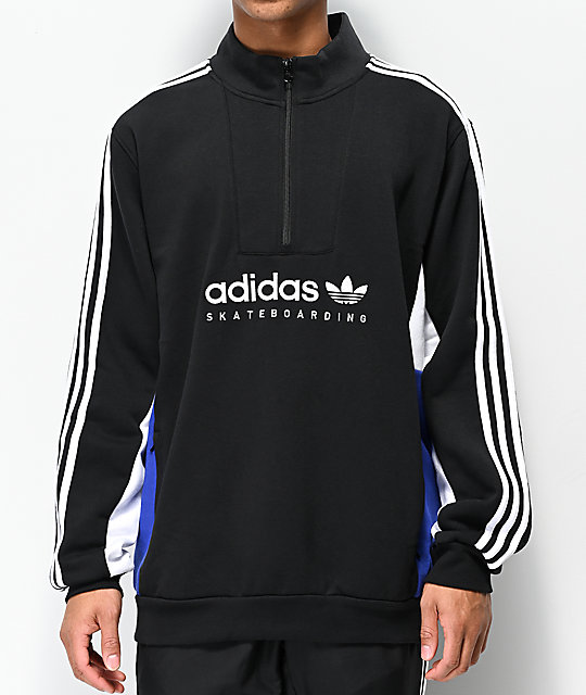 e36158a7cfc adidas Apian Insley Black, White & Blue Sweatshirt