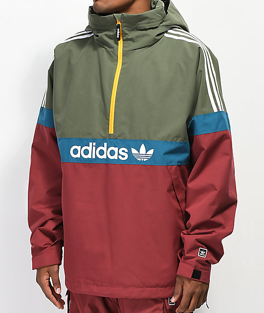 picked up hot new products sale adidas BB Noble, Green & Tea Snowbreaker