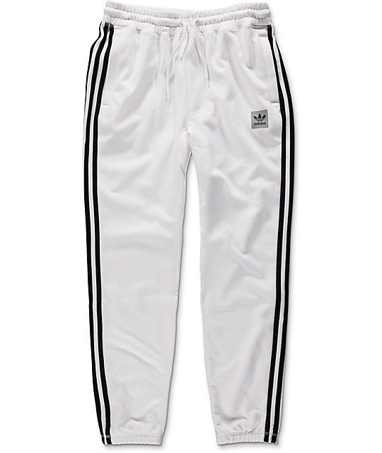 adidas BB White Sweatpants   Zumiez d206e07ce72