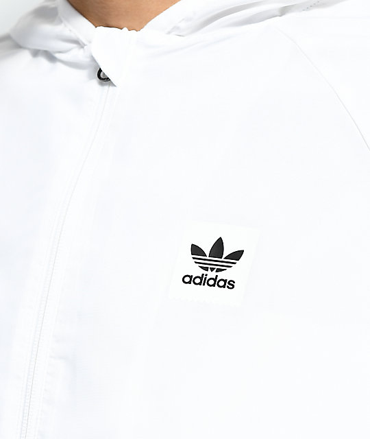 adidas BB White Windbreaker Jacket
