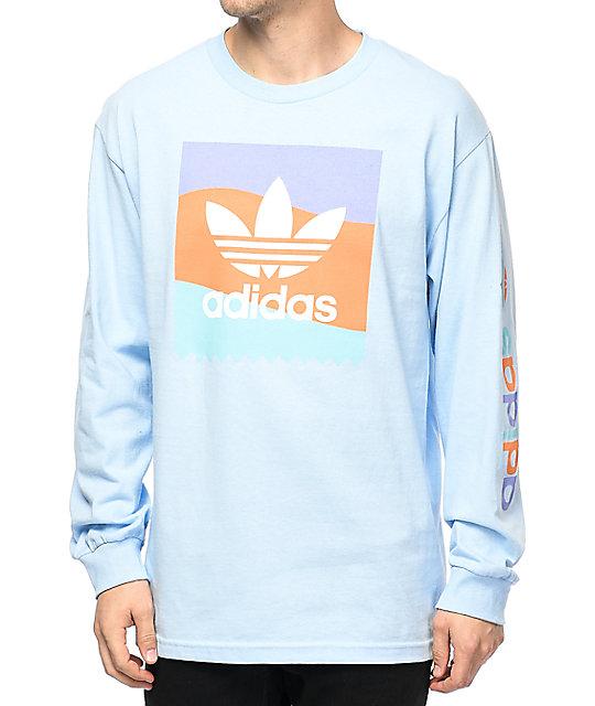 adidas Blackbird Blue Long Sleeve T-Shirt  0718acfed