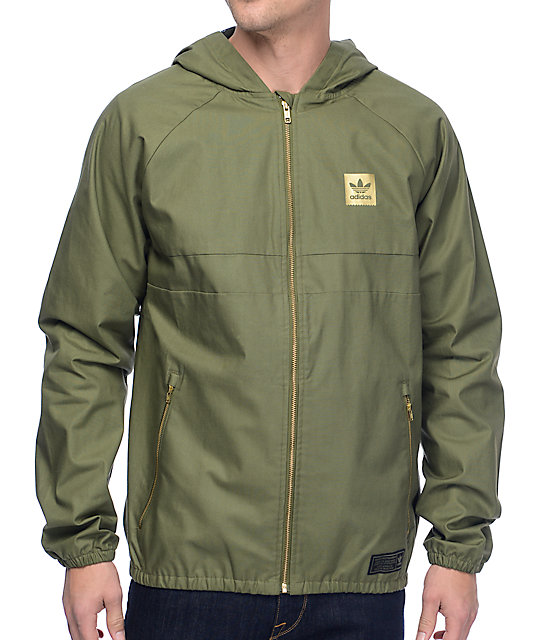 reasonably priced lowest price lowest discount adidas Blackbird Olive Twill Windbreaker Jacket