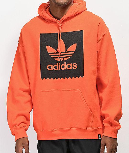 first look wide range special for shoe adidas Blackbird Orange Hoodie
