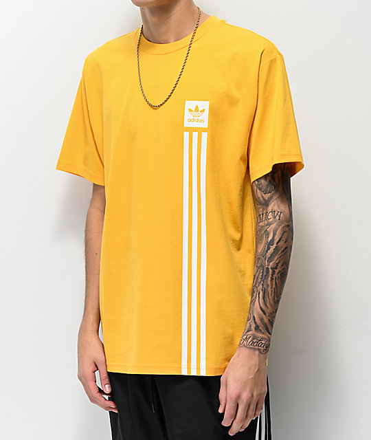 adidas Blackbird Pillar Gold T-Shirt
