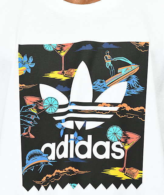 adidas Blackbird Resort camiseta blanca