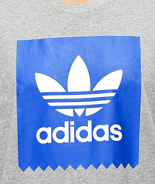 adidas Blackbird Solid Core camiseta gris y azul real