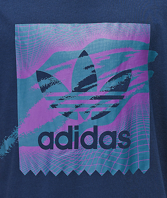 adidas Blackbird Tennis Tribe Purple & Blue T-Shirt