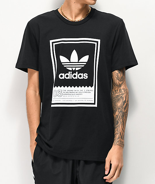adidas Botsford Black & White T-Shirt
