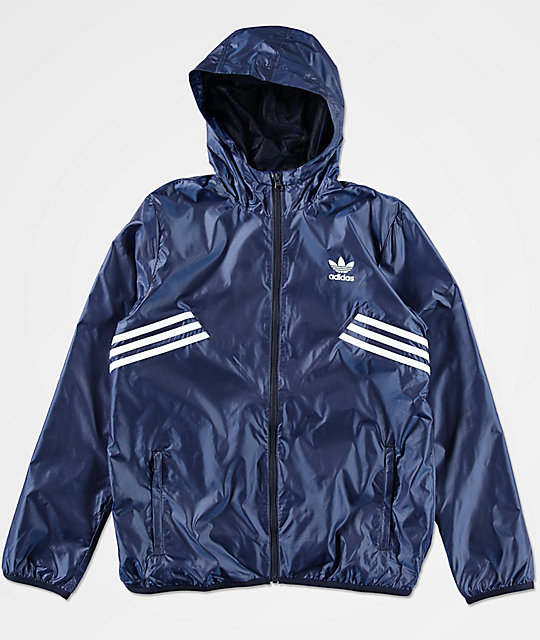 adidas Boys Angled Striped Windbreaker Jacket