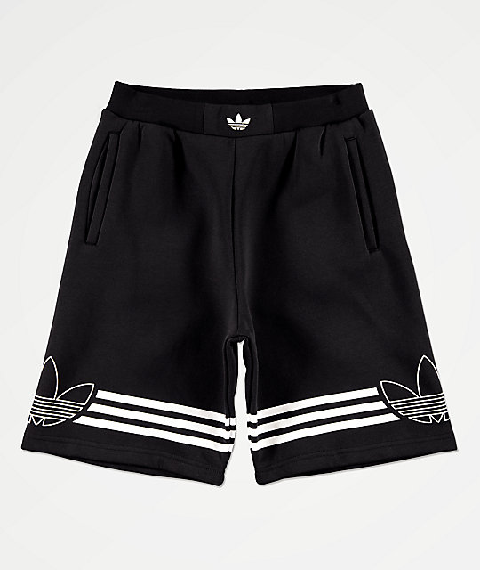 adidas Boys Outline Black Shorts