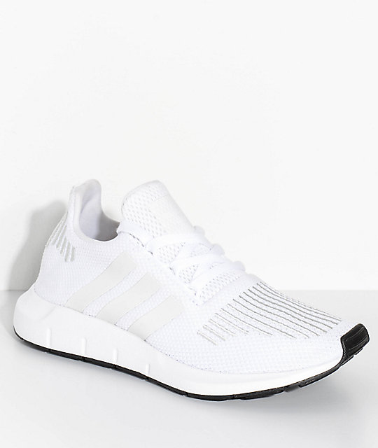 adidas Boys Swift Run White & Crystal Shoes ...