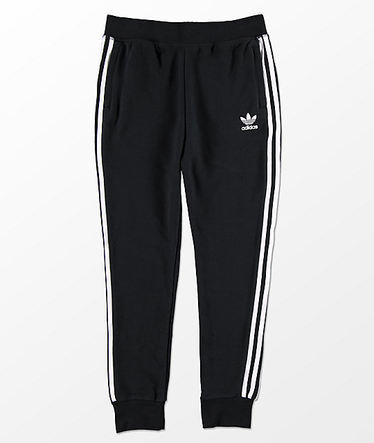 30118f857b5 adidas Boys Trefoil Black Sweatpants