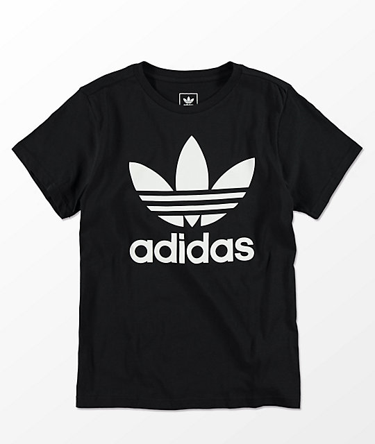 adidas Boys Trefoil Black T-Shirt