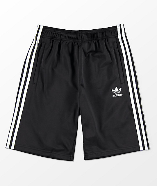 adidas Boys Trefoil Black Track Shorts