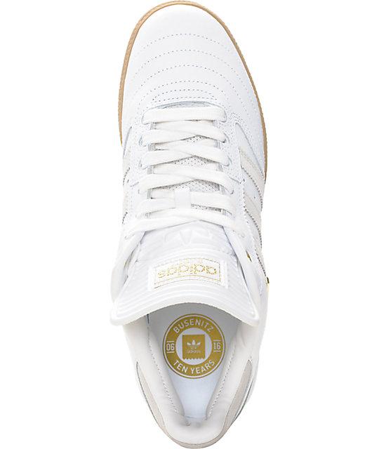 pretty nice dadbd 14717 ... adidas Busenitz 10 Year Anniversary White  Gum Shoes ...