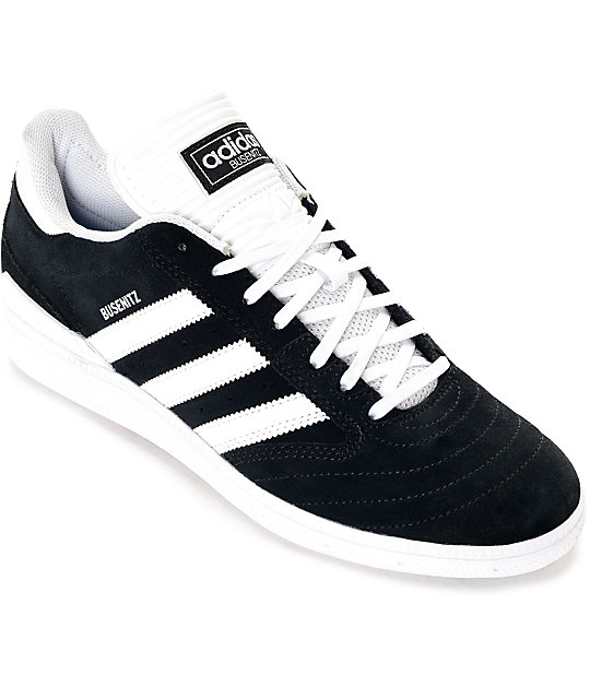 85b2d6bfe0 adidas Busenitz Black   White Suede Shoes