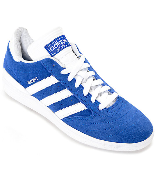 adidas Busenitz Blue & White Suede Shoes