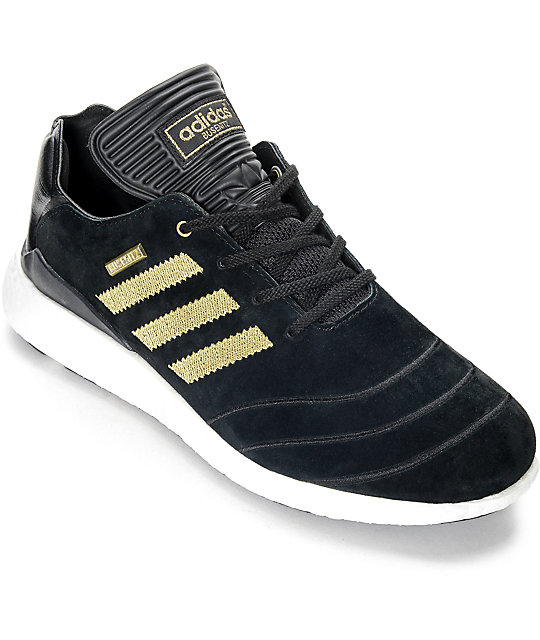 online store 1ed65 e402e adidas Busenitz Boost 10 Year Anniversary Black  Gold Shoes