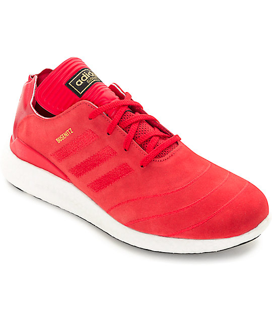 quality design 3d4c9 18650 adidas Busenitz Boost Red  White Shoes  Zumiez