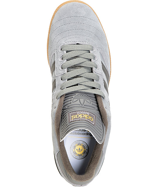 adidas Busenitz Grey, Charcoal, & Gum Shoes