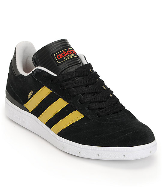 on sale d14bb adf10 adidas Busenitz Pro Black, Red  Gold Shoes  Zumiez