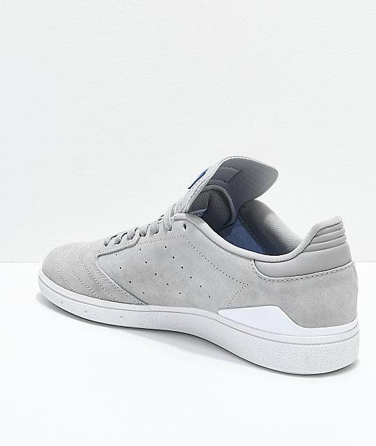 the latest efe5f 16cfb ... adidas Busenitz Pro RX Grey  White Shoes ...