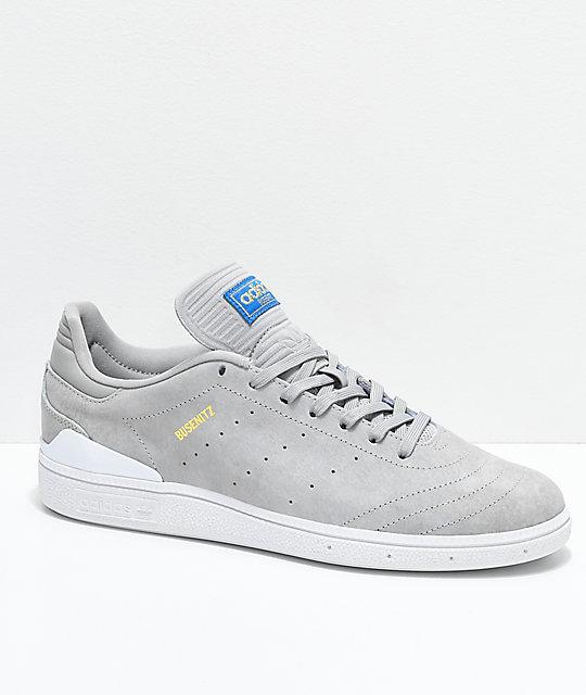 adidas Busenitz Pro RX Grey & White Shoes ...