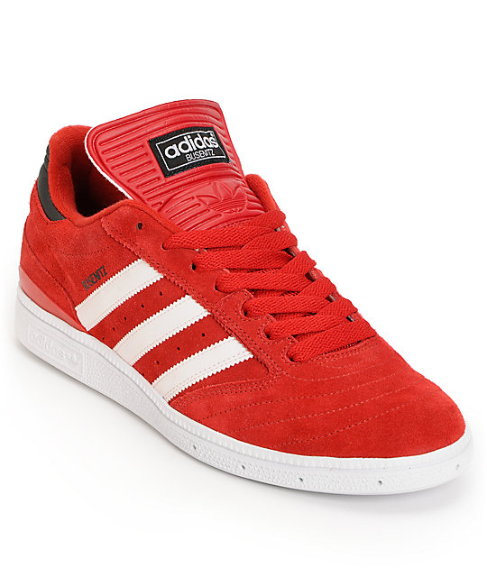 adidas Busenitz Pro University Red   White Shoes  042b0e7b8